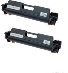 Zwarte KATRIZ® huismerk toner voor HP CF217A |LaserJet Pro M102 / M102a / M102w / M130 / M130a / M130fn / M130fw / M130nw |(2 Stuks)
