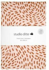 Roze Studio Ditte Hoeslaken 70 x 150 cm