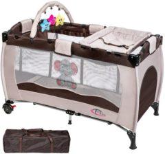 Bruine TecTake reisbed babybed campingbed reisbedje Dodo bruin - 402203