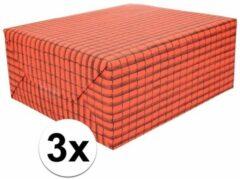 Shoppartners 3x Dakpannen papier 50 x 70 cm op rol