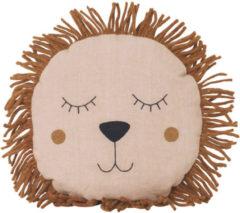 Bruine Ferm Living Safari Lion Cushion - Natural