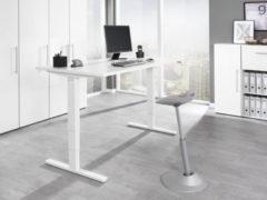 Wellemöbel Schreibtisch 'UP&DOWN 2', (B)1.400 mm, Officegrau