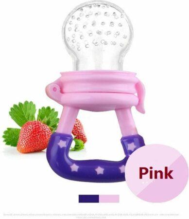 Afbeelding van Elemental GOods 2 Stuks Baby Fruitspeen Siliconen - Speen - Kinderen - Roze