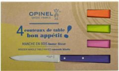 Paarse Opinel Set 4 tafelmessen Bon Appétit Pop