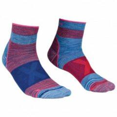 Blauwe Ortovox - Women´s Alpinist Quarter Socks - Multifunctionele maat 42-44 blauw/purper/roze