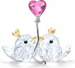 Swarovski 5492226 Ornament Tortelduifjes met roze hart
