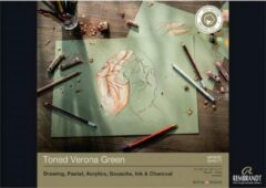 Groene Rembrandt Toned Verona Green, 180 g/m2, 29,7 x 42, 50 sheets