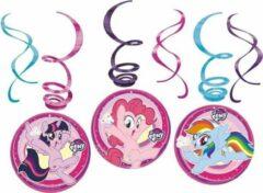 18x stuks My Little Pony thema rotorspiralen 50 cm - Hangdecoraties - Kinder thema verjaardag feestartikelen
