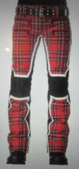 Rode SOS Sportswear of Sweden ski broek WS JACKY PANT Racing Red Tartan 44