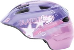 "CRATONI 112213A1 ""Akino"" Kinder-Fahrradhelm Akino, Größe S (49-53cm), lila/pink/glanz (1 Stück)"