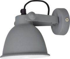 Grijze Urban Interiors - Industriële Wandlamp industrial ø12cm vintage grey
