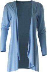Blauwe MOOI! Company - Espro los vallend vest - Zonder knopen - Kleur Sea Blue - S