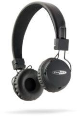 CALIBER Hoofdtelefoon MAC301 zwarte lichtgewicht verstelbare bedrade headphone met 3,5mm aux in, FM radio en micro sd slot