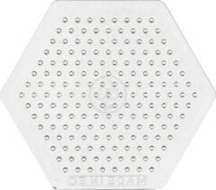 Onderplaat, h: 7,5 cm, transparant, kleine hexagon, 1stuk