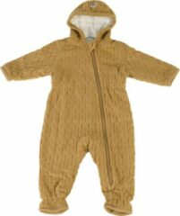 Lodger Baby Winterpak 0-3 maanden - Skier Empire - Dubbellaags - Gevoerd met Fleece - Diagonale Rits - Goed Aansluitende Capuchon - maat 62 - Okergeel