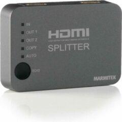 Marmitek Split 312 2 poorten HDMI-splitter 3D-weergave mogelijk 3840 x 2160 Pixel Zilver