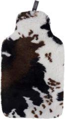 Fashy Wärmflasche 67310 25, mit hochwertigem Bezug aus Fellimitat im Kuh-Design