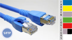 EC-net Patchkabel Kat. 6 S/FTP, grau/schwarz, 2,0 m