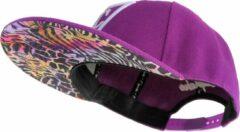 Rode Capiche Snapback pet Heren - Colored Safari - Unisex - Onesize - Sportcap - Baseball Cap - Mannen - Paars
