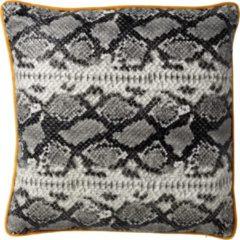 Antraciet-grijze Dutch Decor Kussenhoes Roan 45x45 cm Charcoal Gray