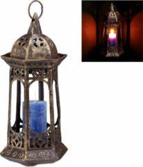 Bronze Relaxdays lantaarn antiek - windlicht - tuinlantaarn - sfeerlicht - lantaren - windlichtje