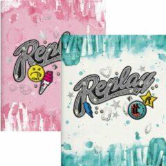 Blauwe Schrift Replay Girls 3-pack A5 gelijnd