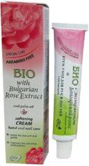 Rosa Impex 2 Tubes / 2 producten BIO CARE HAND - NAGEL CREME Zonder Parabenen met Bulgaars ROZEN-EXTRACT 90ml d.d.02-05-2021