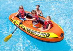Rode Intex Explorer Pro 300 Opblaasboot - Inclusief peddels en pomp