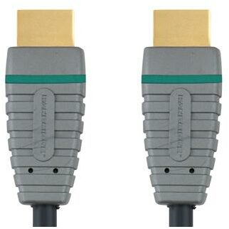 Afbeelding van Grijze Bandridge BVL1203 High Speed HDMI M/M Kabel - met Ethernet - 3D / 4K Ultra HD - 24K Gold - 3 meter