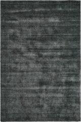 Antraciet-grijze Decor24-OB Handgeweven vloerkleed Wellington - Wol - Antraciet - 200x290 cm