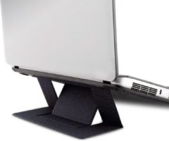Geen merknaam Zelfklevende Opvouwbare Laptop Standaard - Zwart - Lichtgewicht