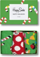 Groene Happy Socks Holiday Candy sokken met dessin in 3-pack giftbox