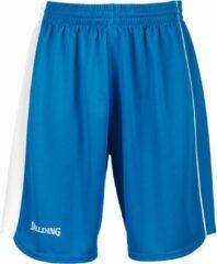 Blauwe Spalding 4her 2 Basketbalshort Dames - Cyaan / Wit | Maat: 36