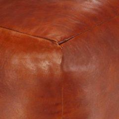 Bruine VidaXL Poef 40x40x40 cm echt geitenleer tan