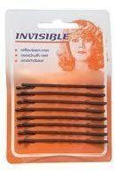 Bruine Invisible Haarschuifjes Invisible bruin kort schuifspeld