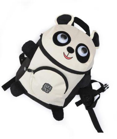 Afbeelding van Witte Pick & Pack-Rugzakken-Backpack Panda Shape-Zwart