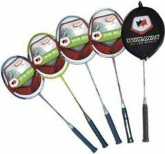 WinMax Badminton-Racket pro.Alu m.Carbon shaft Rood