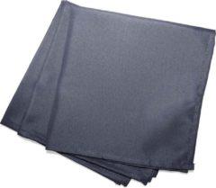 Donkergrijze Wicotex Servetten Essentiel 40x40cm donker grijs 3 stuks polyester