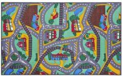 Paradiso Toys verkeerskleed 67 x 100 cm