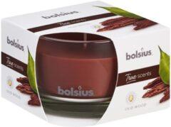 Bolsius Geurkaars True Scents Oud Wood 9,2 Cm Glas/wax Bruin
