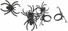 Xenos Spinnetjes - zwart - 48 stuks