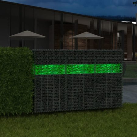 Afbeelding van Groene VidaXL Gabion stenen 25 kg groen 60-120 mm glas