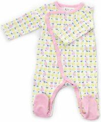 Roze Froy&Dind Froy & Dind - Pyjama met voetjes - Pear - 9-12m