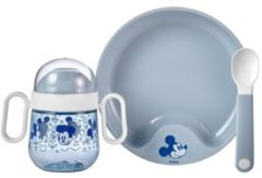 Blauwe Mepal babyservies Mio 3-delig - mickey mouse