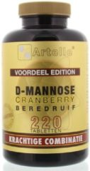 Artelle D-Mannose cranberry beredruif 220 Tabletten