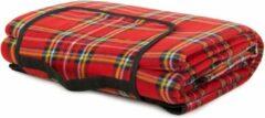 VERK GROUP Picknickkleed - 200 x 150 cm - Rood geruit - met handvat - waterafstotende onderkant