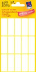 Avery Etiket Zweckform 38x14mm wit blister a 90 etiketjes