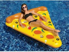 Gele Poolstyle Zwembad luchtbed pizza deel luxe drijvend mix colour