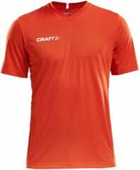 Craft Squad Jersey Solid SS Shirt Heren Sportshirt - Maat L - Mannen - oranje/wit