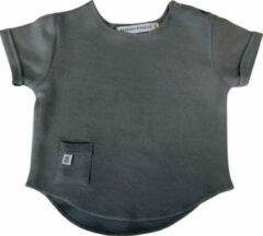 Antraciet-grijze Bamboom T-shirt korte mouw | Antraciet mt. 68